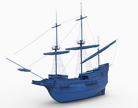 MAYFLOWER ship 1620 3D print model