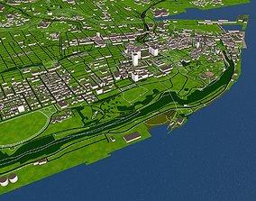 realtime Quebec City of Canada 3d Model