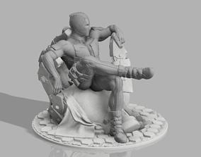 Deadpool on RobotCouch 3D print model