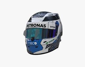 3D asset Bottas helmet 2019