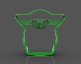 Stylized Baby Yoda Cookie 3D printable model