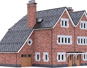 3D asset English Brick House 12