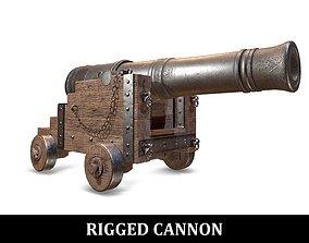 RIGGED PBR War Cannon 3D model