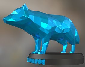 3D print model Poly Raccoon Dog