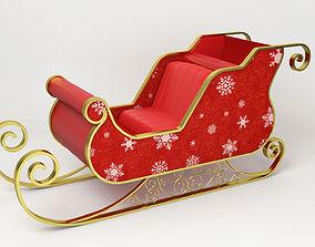 3D Santa Claus Sled - Christmas Sled -