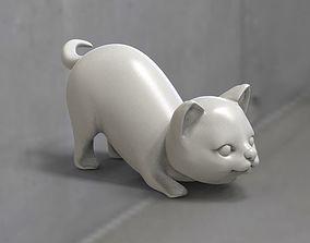 3D print model 3D asset cats Low-poly