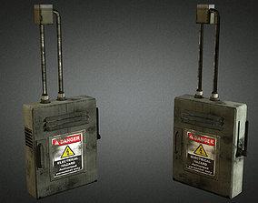 Electric Fuse Box 01 3D asset