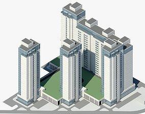 Residential Complex Co1 3D asset
