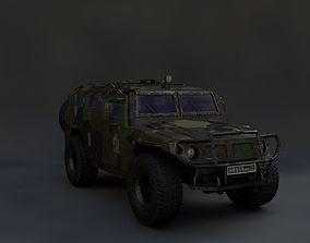3D asset Gaz Tigr