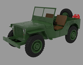 3D Willys Jeep 4x4