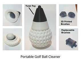 Portable Golf Ball Washer 3D print model