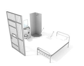 3D prison cell object
