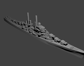 3D print model cl US Juneau Class Cruiser Warship