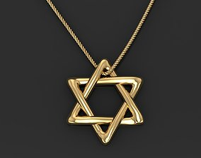 3D printable model Star of David pendant necklace