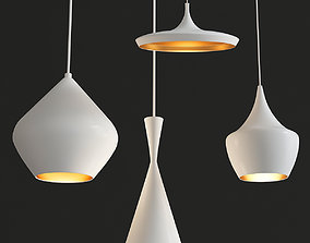 3D asset Beat Light chandelier Set Tom Dixon 3