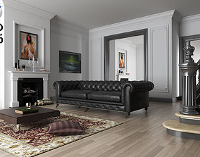 3D model living room C4D R18 vrayforc4d 3 40