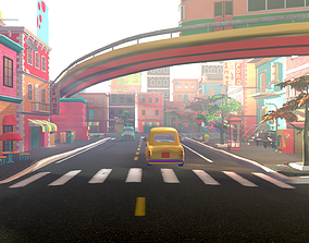 Asset - Cartoons - Street 3D Model game-ready