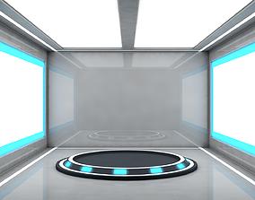 Sci Fi Room 3D model realtime