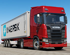 3D Scania S 730 Container