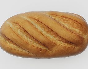 Loaf of Bread VR AR low-poly 3D low-poly