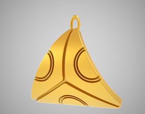 Abstract Triangle Pendant 3D printable model