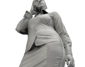 Woman on Phone 3D print model