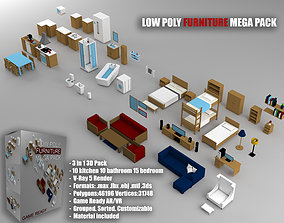 Low-Poly Furniture Mega Pack - Game Ready 3D asset