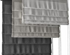 3D model Curtains 41 blinds 3 colors 2