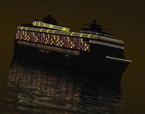 3D model Night Cruise Liner