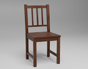 Wooden chair 3D asset realtime