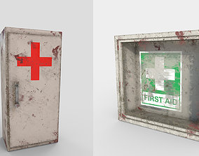 First Aid Wall Monut Kits 3D model