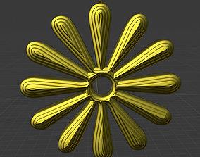 3D printable model Flower Daisy Necklace Pendant 2