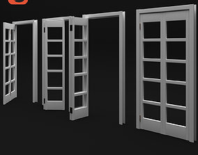 3D rigged french door