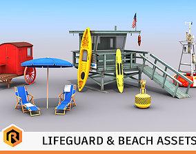 3D Beach Assets Collection