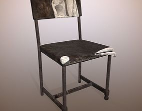 3D asset Chair Old Scratched