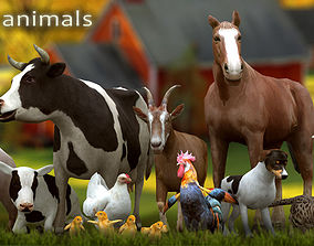 3DRT - Domestic Animals animated game-ready