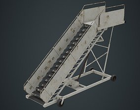 3D asset Airplane Stairs 1B