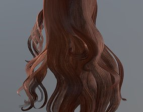 3D asset VR / AR ready Woman hairstyle body