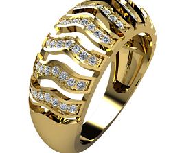 Fancy Diamond Ring white 3D printable model