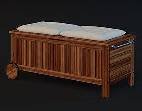 Ikea Applaro Storage Bench 3D model