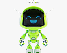 Lovely robot - companion X 3D model