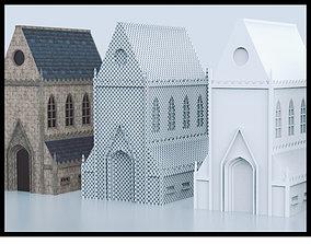 3D asset Medieval Church