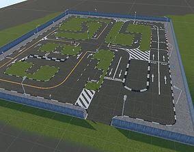 Car Driving License Test Track Model realtime