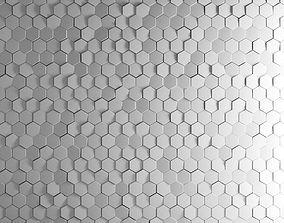 Dekowall Hexagon Tiles 3D model