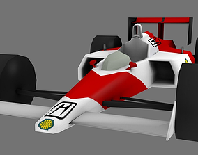 3D asset game-ready Formula 1 Car