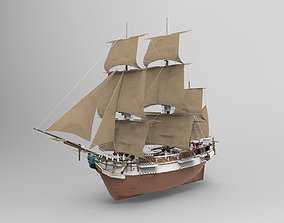 3D model Sailing Ship vessel