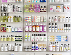 Pharmacy Showcase 3D model varnish