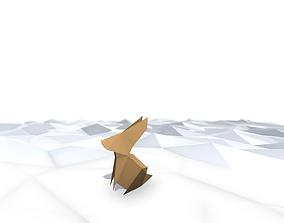 3D asset Origami Rabbit