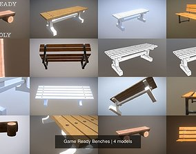 Game Ready Benches 3D PBR