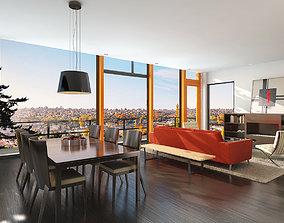 photorealistic armchair Living room scene 3D model
